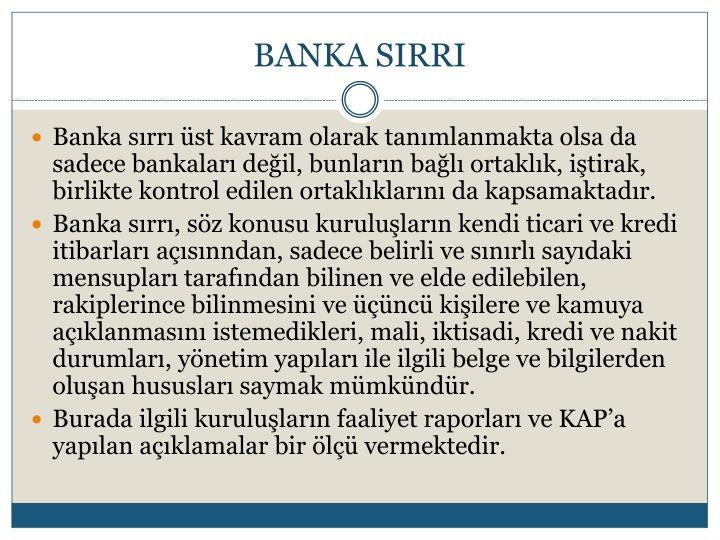 BANKA SIRRI
