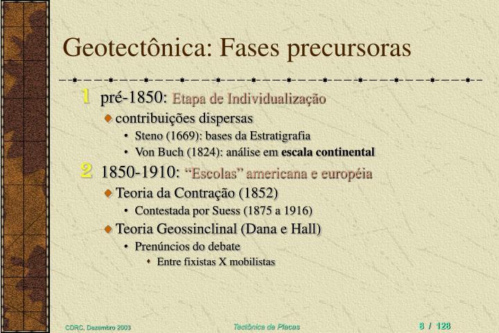 pré-1850: