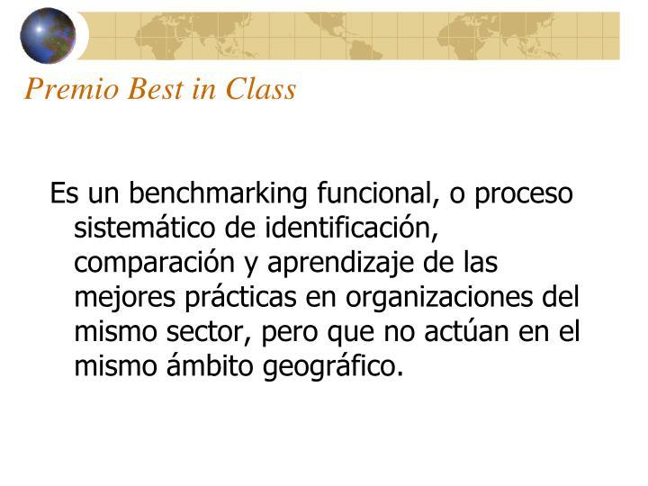 Premio Best in Class