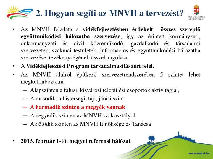 2. Hogyan segíti az MNVH a tervezést?