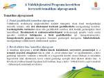 a vid kfejleszt si program keret ben tervezett tematikus alprogramok