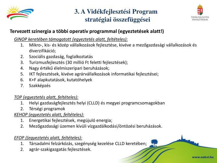 3. A Vidékfejlesztési Program