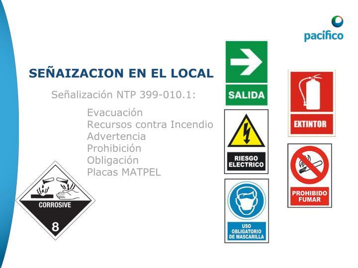 Señalización NTP 399-010.1: