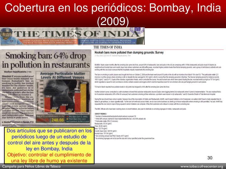 Cobertura en los periódicos: Bombay, India (2009)
