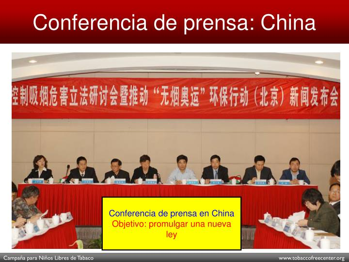 Conferencia de prensa: China