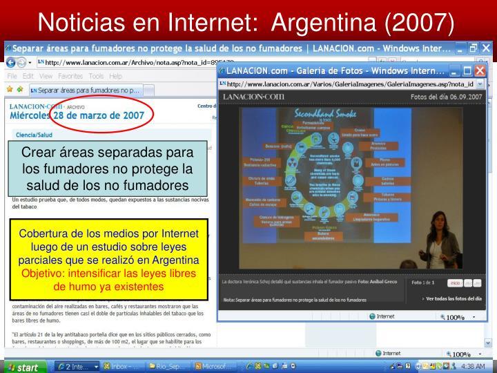 Noticias en Internet:  Argentina (2007)