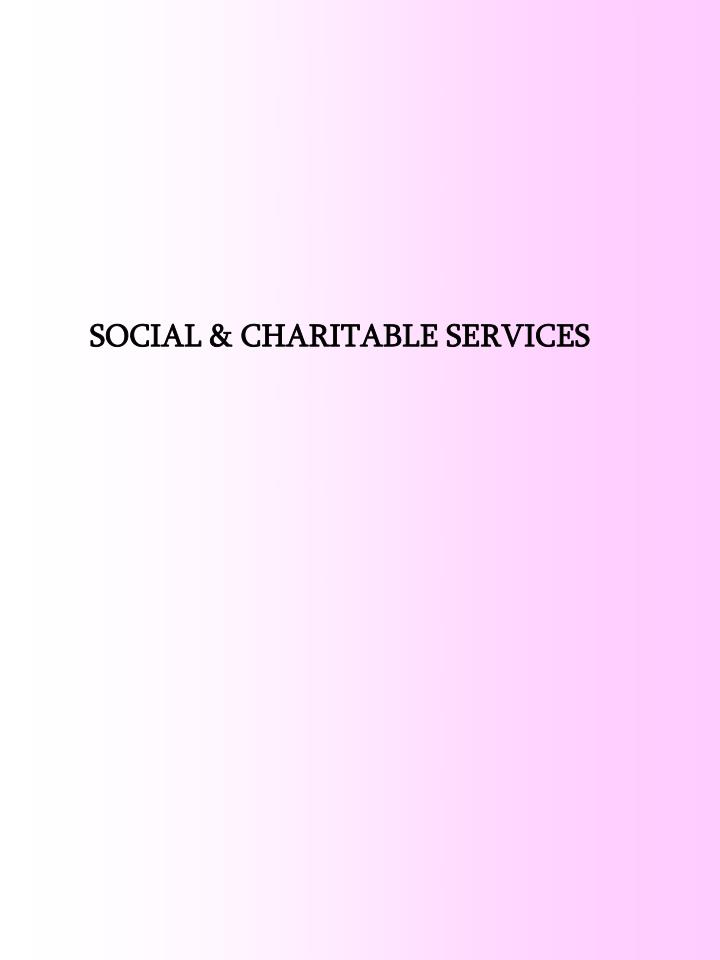 SOCIAL & CHARITABLE SERVICES