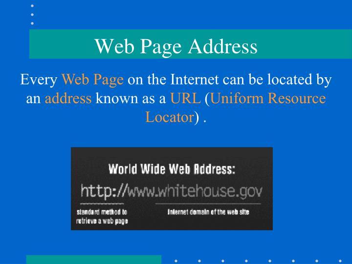 Web Page Address