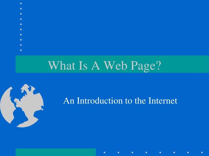 what is a web page
