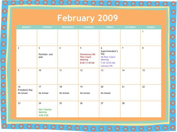 February 2009