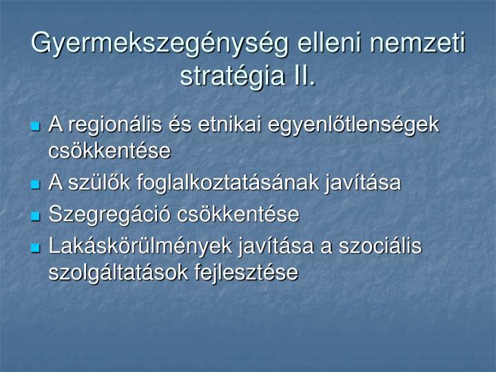 Gyermekszegénység elleni nemzeti stratégia II.