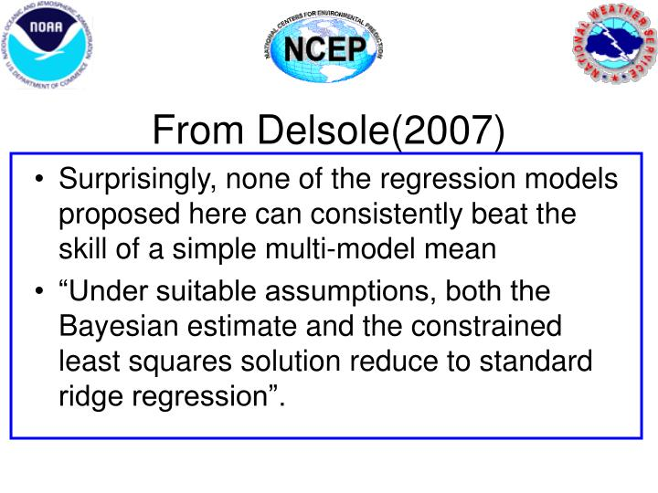 From Delsole(2007)