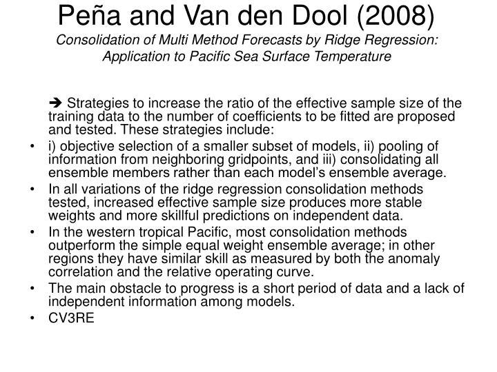 Peña and Van den Dool