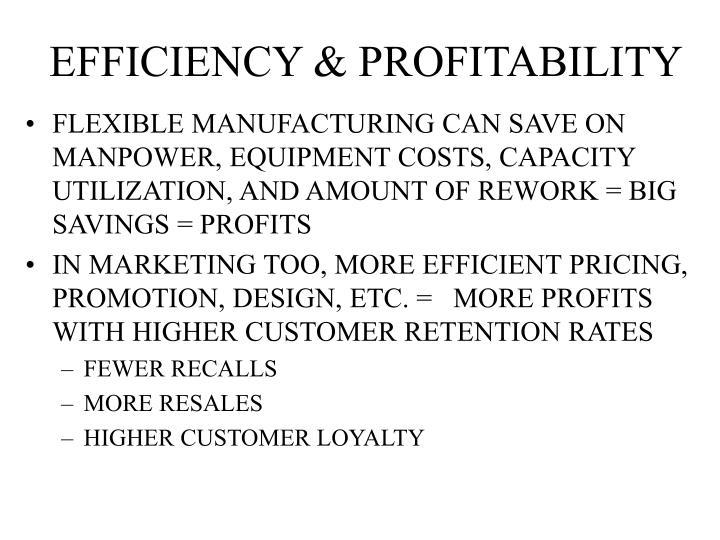 EFFICIENCY & PROFITABILITY