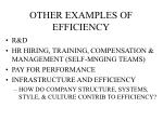 other examples of efficiency