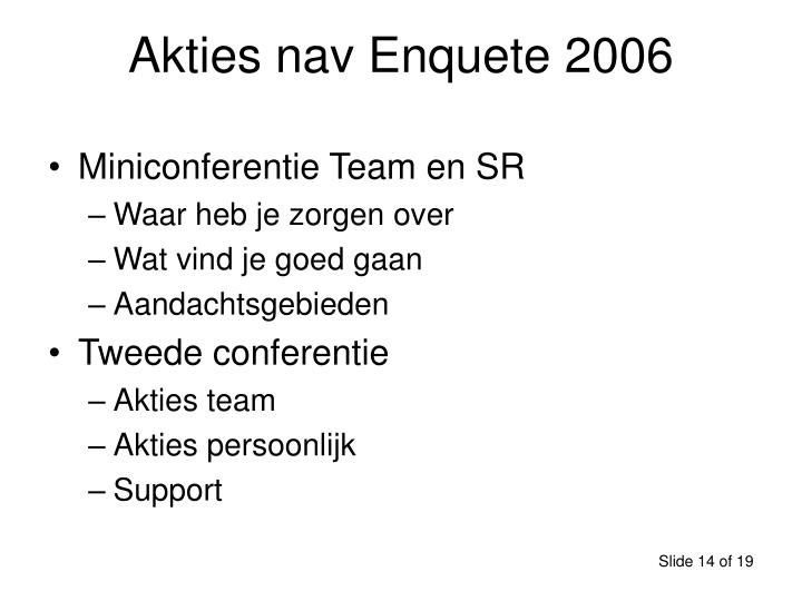 Akties nav Enquete 2006