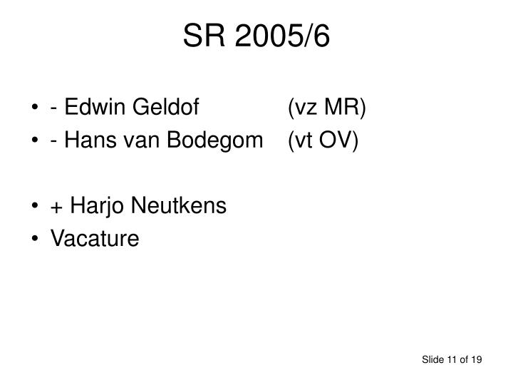 SR 2005/6