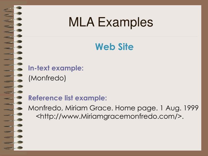 MLA Examples