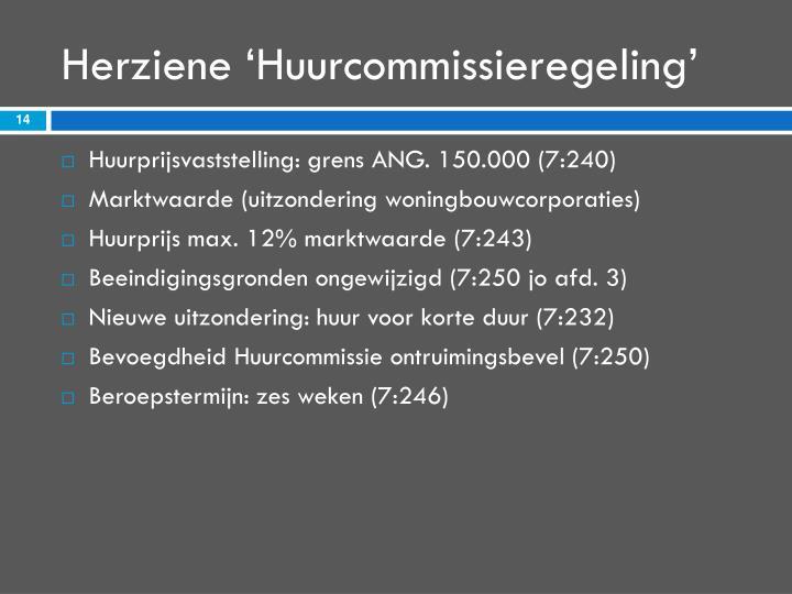 Herziene 'Huurcommissieregeling'
