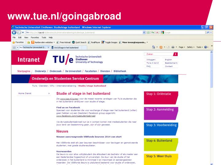 Www tue nl goingabroad