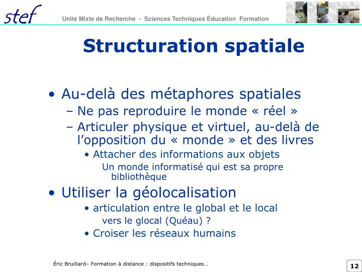 Structuration spatiale