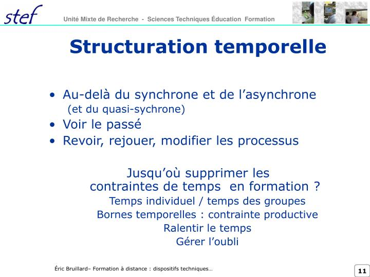 Structuration temporelle