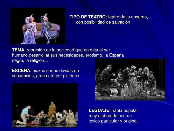 TIPO DE TEATRO