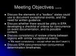 meeting objectives cont d