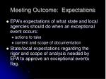 meeting outcome expectations