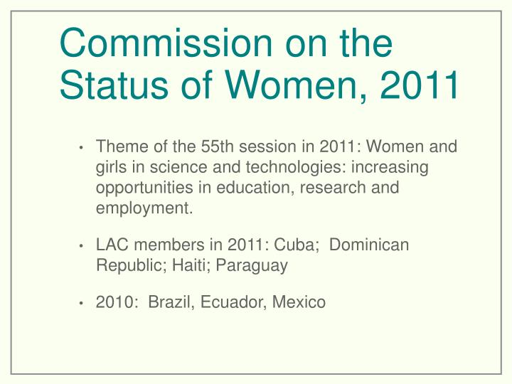 Commission on the Status of Women, 2011