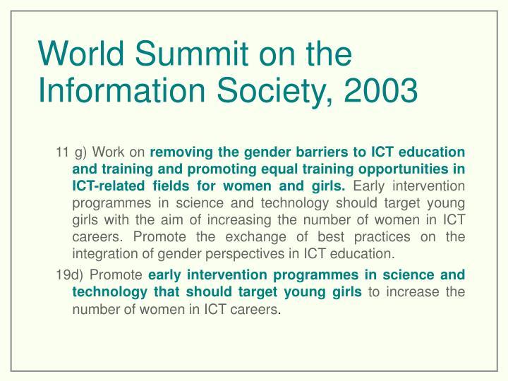 World Summit on the Information Society, 2003