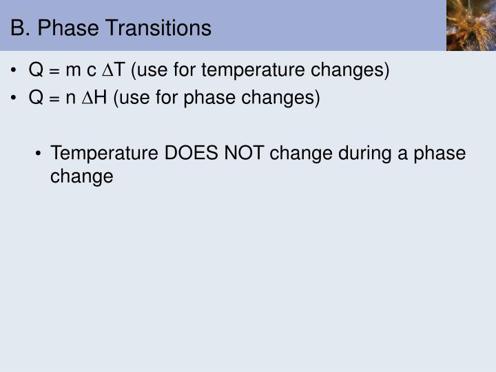 B phase transitions