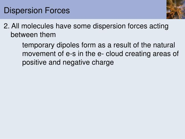 Dispersion Forces