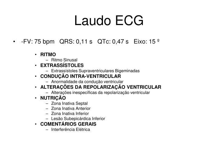 Laudo ECG