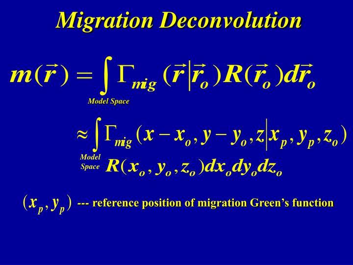 Migration Deconvolution