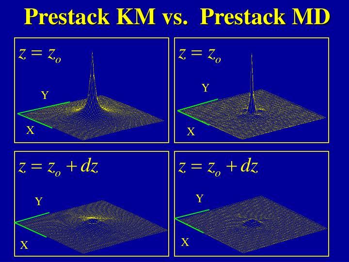 Prestack KM vs.  Prestack MD