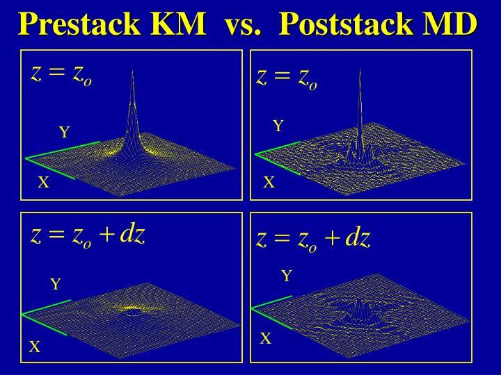 Prestack KM  vs.  Poststack MD