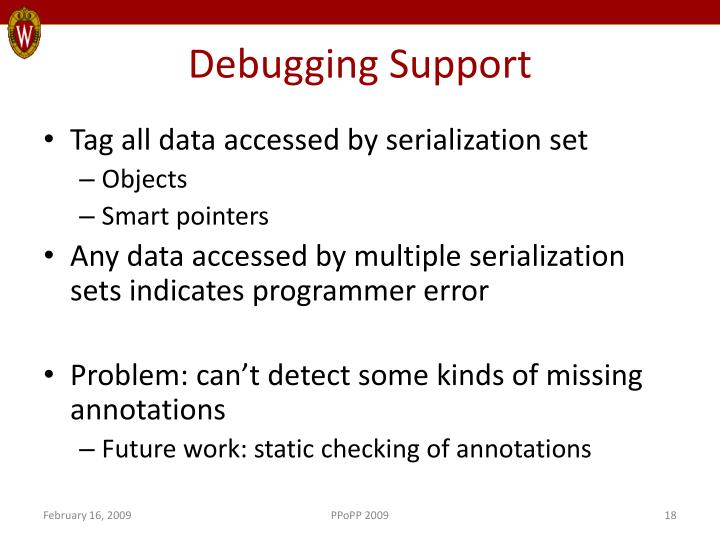 Debugging Support