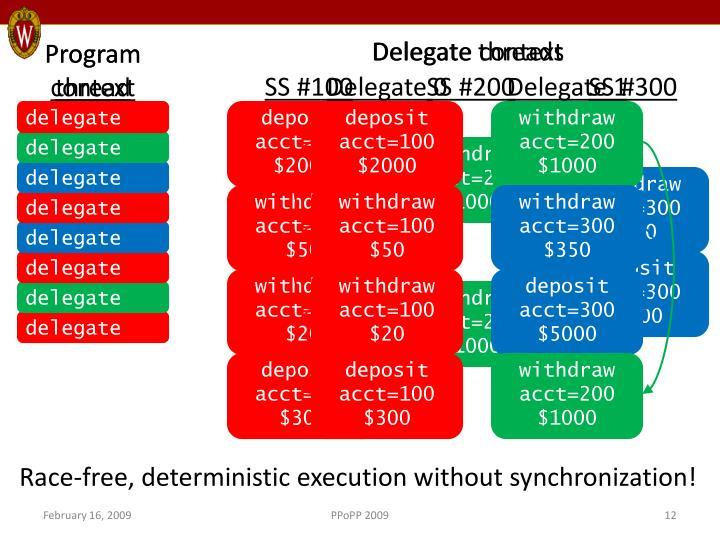 Delegate threads