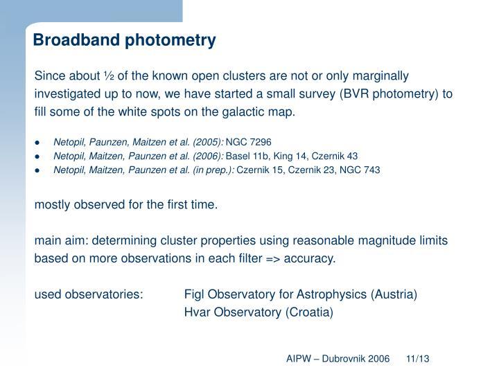 Broadband photometry