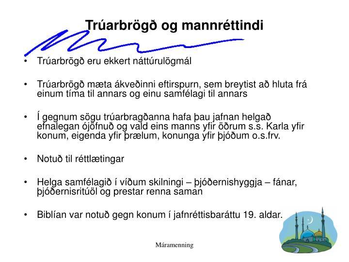 Trúarbrögð og mannréttindi