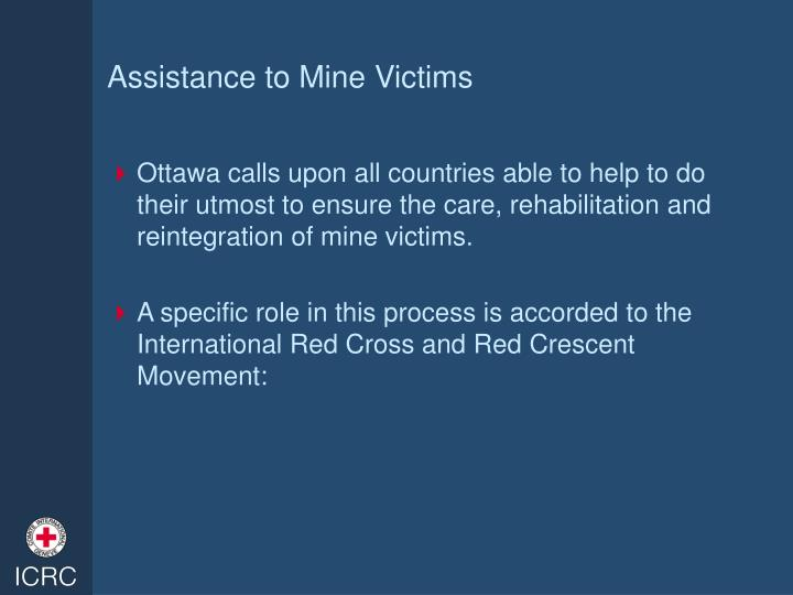 Assistance to mine victims