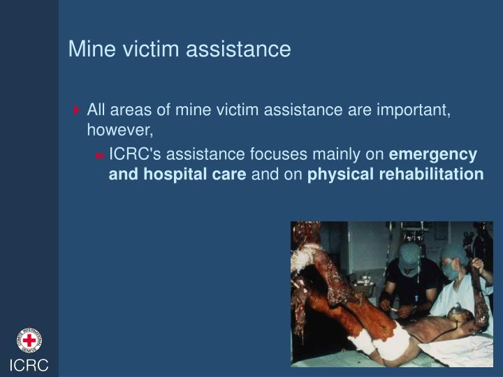Mine victim assistance