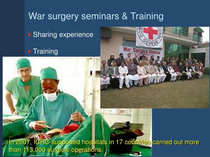 War surgery seminars & Training