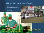 war surgery seminars training