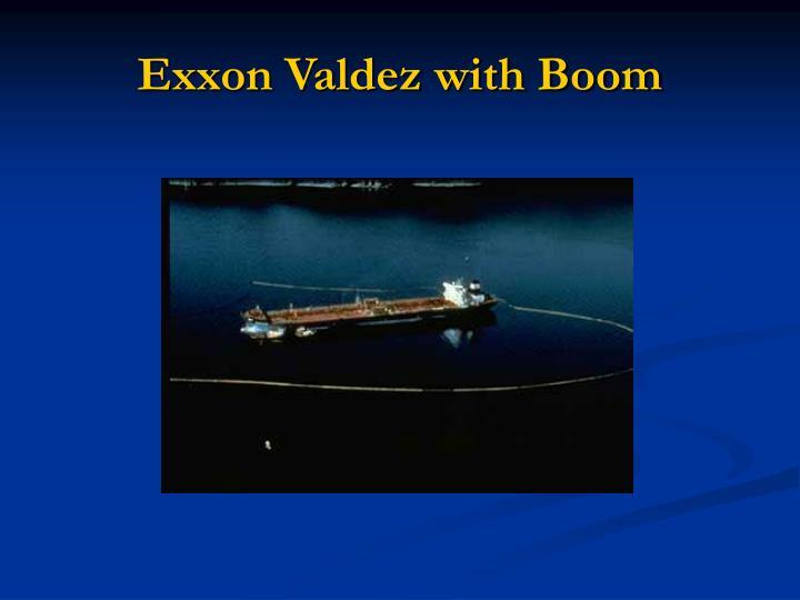 Exxon Valdez with Boom
