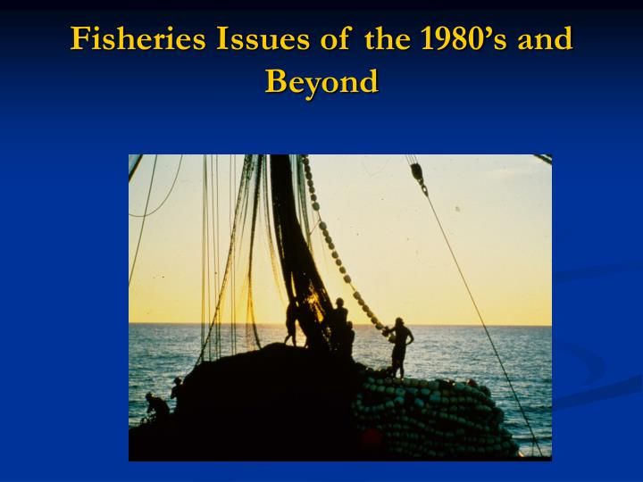 Fisheries Issues of the 1980's and Beyond