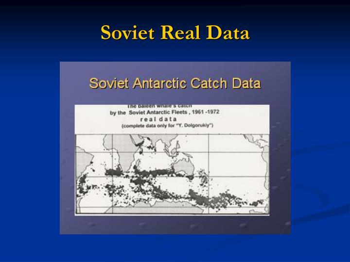 Soviet Real Data