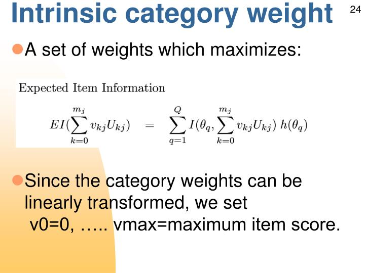 Intrinsic category weight
