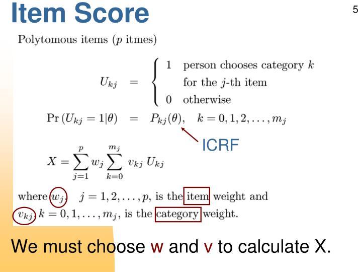 Item Score